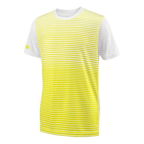 Wilson Team Striped Crew T-Shirt Boys - Yellow, White