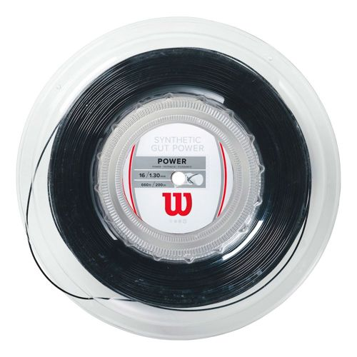 Wilson Synthetic Gut Power String Reel 200m - Black