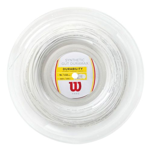Wilson Synthetic Gut Duramax String Reel 200m - White