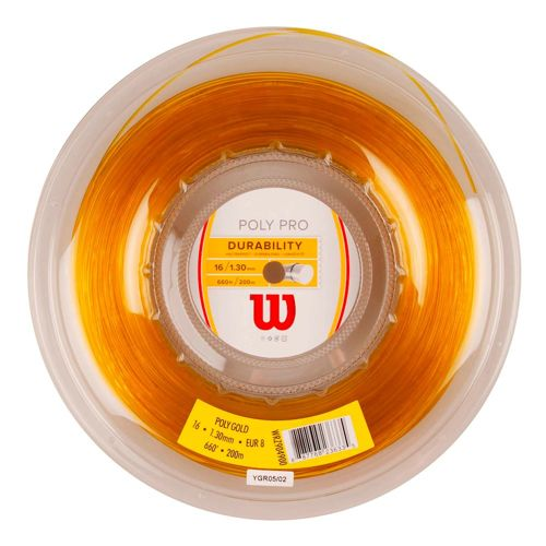 Wilson Poly String Reel 200m - Gold