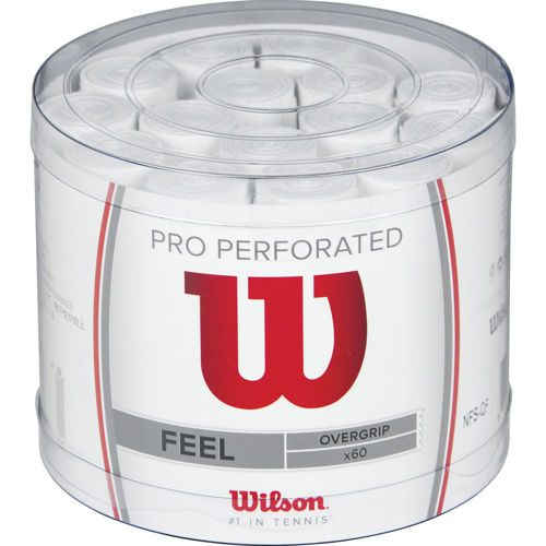 Wilson Pro Overgrip Perforated 60 Pack - White