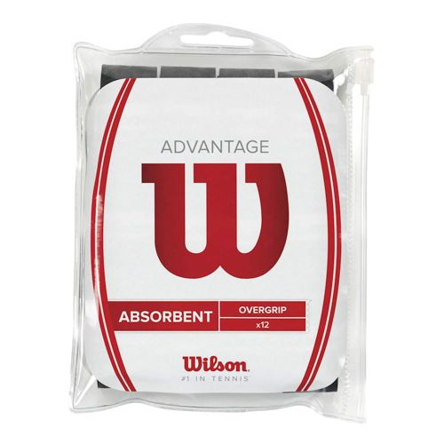 Wilson Advantage Overgrip 12 Pack - Black