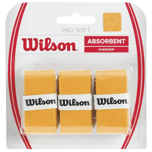 Wilson Soft Overgrip 3 Pack - Gold
