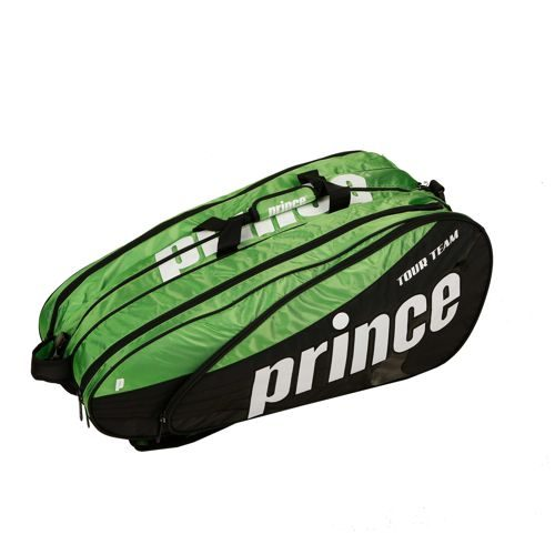 Prince Tour Team 12 Pack Racket Bag - Green, Black
