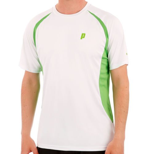 Prince Crew T-Shirt Men - White, Green