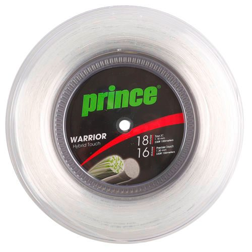 Prince Warrior Hybrid Touch String Reel 200m - Silver, Multicoloured
