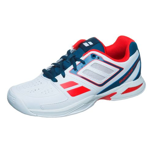 Babolat Propulse Team Indoor Carpet Shoe Kids - White, Dark Blue