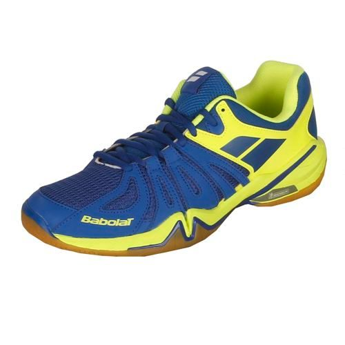 Babolat Shadow Spirit Badminton Shoes Men - Blue, Yellow