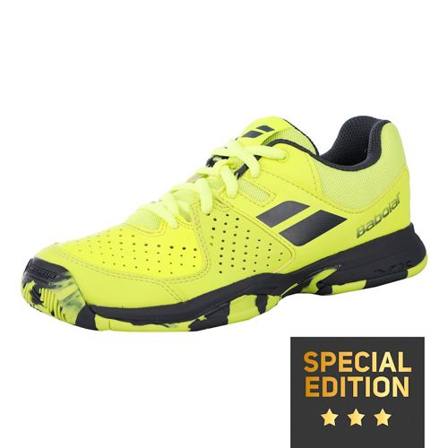 Babolat Pulsion All Court Shoe Special Edition Kids - Neon Yellow, Black