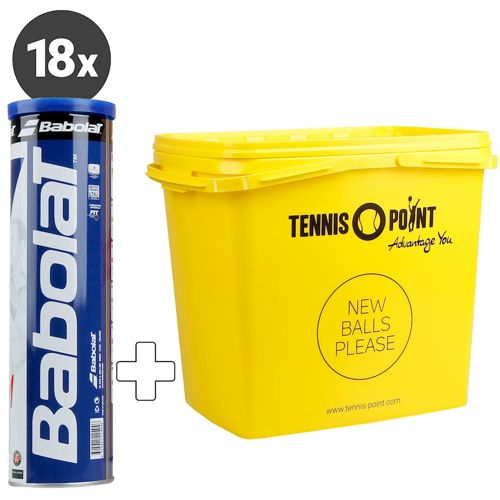 Babolat Team 18x 4 Ball Tube Plus Ball Bucket