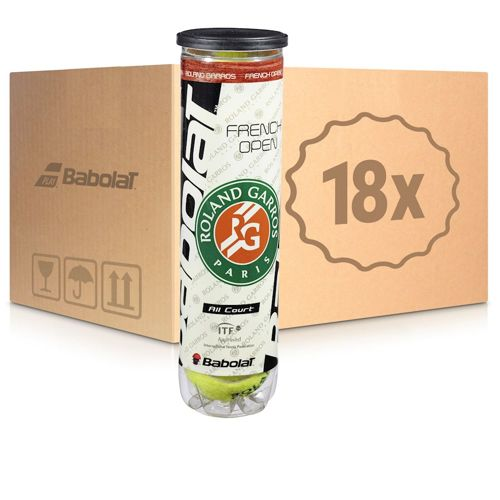 Babolat French Open All Court 18x 4 Ball Tube In A Box