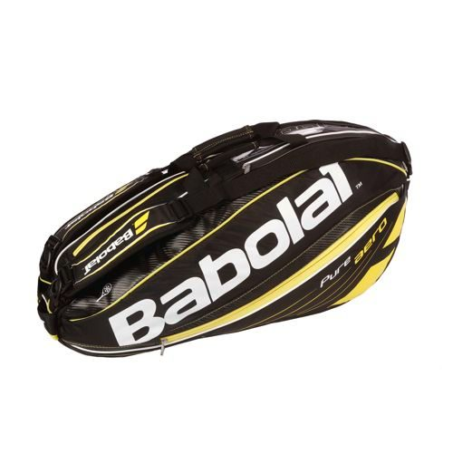 Babolat Pure Aero Racket Holder X6 Racket Bag - Black, Yellow