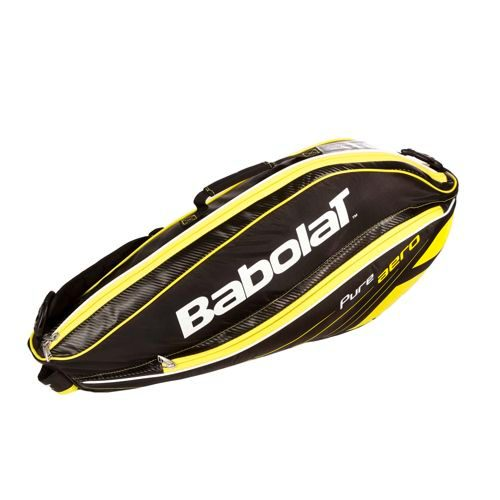 Babolat Pure Aero Racket Holder X3 Racket Bag - Black, Yellow
