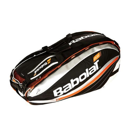 Babolat Team Racket Holder X12 Play Racket Bag - Black, Orange