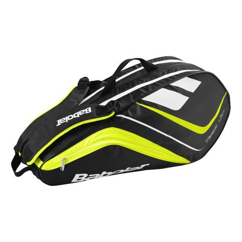 Babolat Team Racket Holder Line Black Racket Bag - Yellow