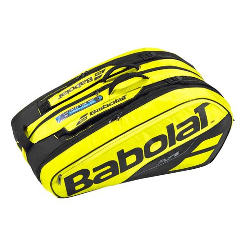 Babolat Pure Aero Racket Holder X12 Racket Bag - Black, Yellow