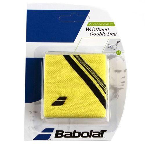 Babolat Double Line 2er-Pack Wristband 2 Pack - Yellow