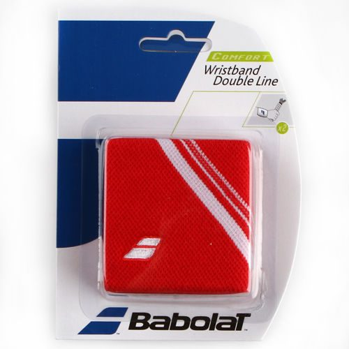 Babolat Double Line 2er-Pack Wristband 2 Pack - Red