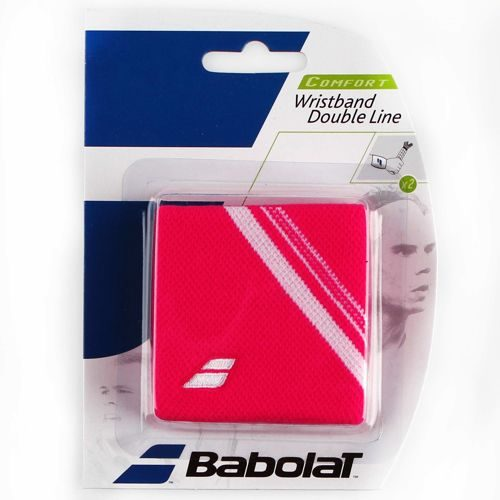 Babolat Double Line Wristband 2 Pack - Pink