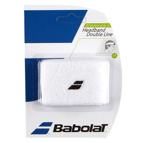 Babolat Double Line Pack Head Band 1 Pack - White