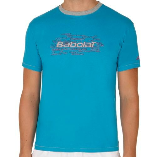 Babolat Training Basic T-Shirt Men - Light Blue