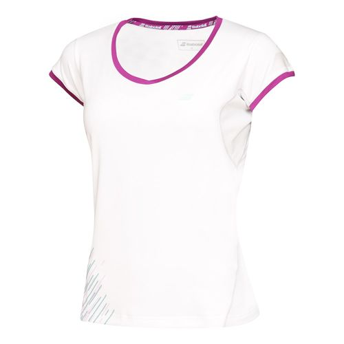 Babolat Performance Girl Capsleeve Girls - White