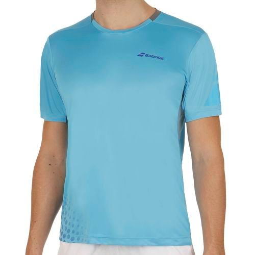 Babolat Performance Crew Neck T-Shirt Men - Light Blue