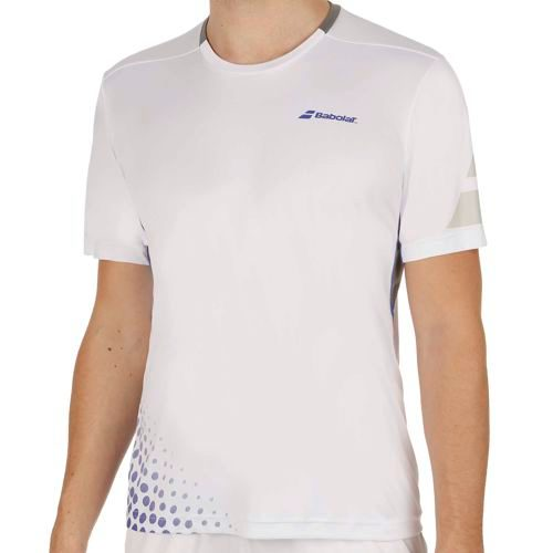 Babolat Performance Crew Neck T-Shirt Men - White