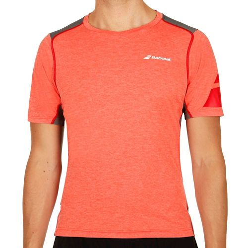 Babolat Performance V-Neck T-Shirt Men - Red