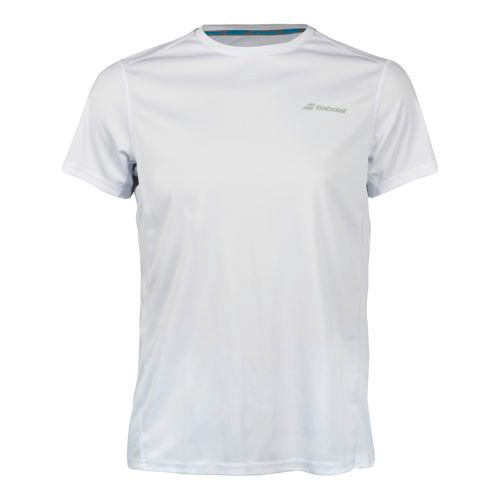 Babolat Core Flag Club T-Shirt Boys - White, Grey