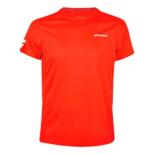 Babolat Core Flag Club T-Shirt Boys - Red, White