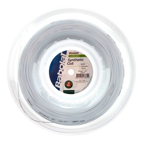 Babolat Synthetic Gut String Reel 200m - White