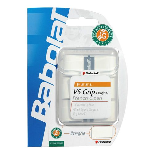 Babolat VS Grip French Open 3 Pack - White