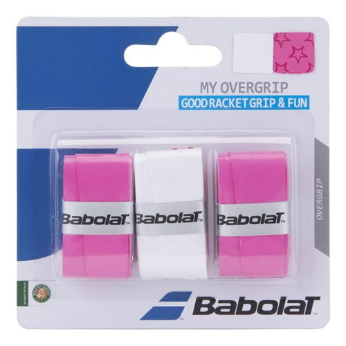 Babolat My Overgrip 3 Pack - White, Pink