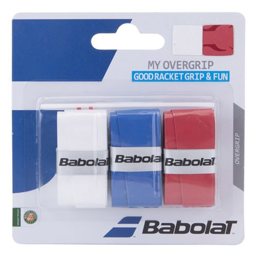 Babolat My Overgrip 3 Pack - White, Blue