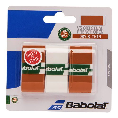 Babolat VS Grip Original French Open 3 Pack - White, Orange