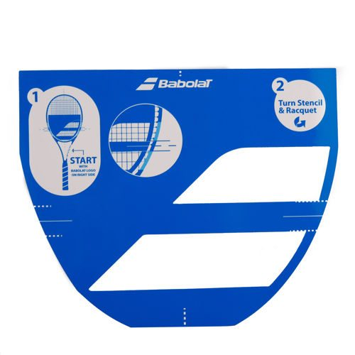 Babolat Logo Stencil - Light Blue