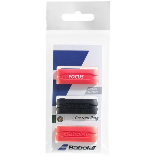 Babolat Custom Ring Pack Racket Accessories 3 Pack - Black, Red