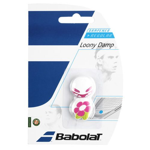 Babolat Loony Damp Pack Dampener 2 Pack - White, Pink
