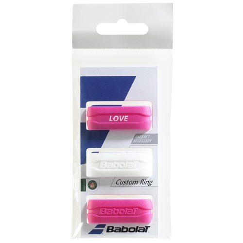 Babolat Custom Ring 3 Pack - White, Pink