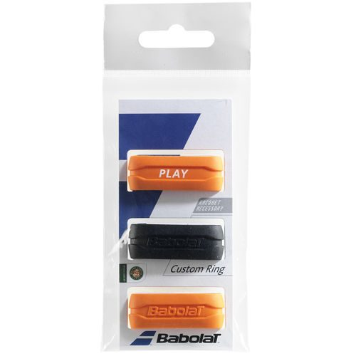 Babolat Custom Ring Pack Racket Accessories 3 Pack - Black, Orange