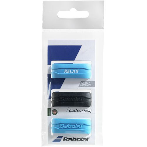 Babolat Custom Ring 3 Pack - Black, Blue