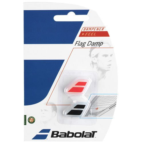Babolat Flag Damp Pack Dampener 2 Pack - Black, Red