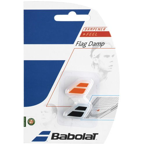 Babolat Flag Damp Pack Dampener 2 Pack - Black, Orange