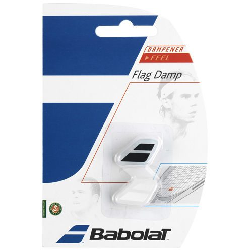Babolat Flag Damp Pack Dampener 2 Pack - Black, White
