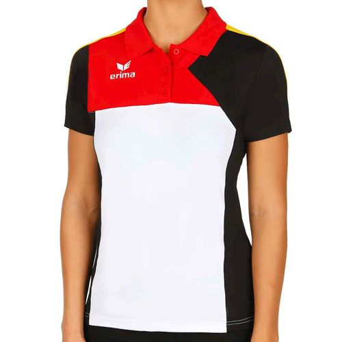 Erima Premium One Fed Cup Poloshirt Polo Women - White, Black