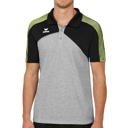 Erima Premium One 2.0 Polo Men - Dark Grey, Black