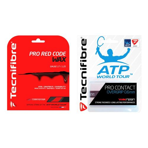 Tecnifibre 2 X Pro RedCode Wax String Set 12,2m Plus Overgrip - Red