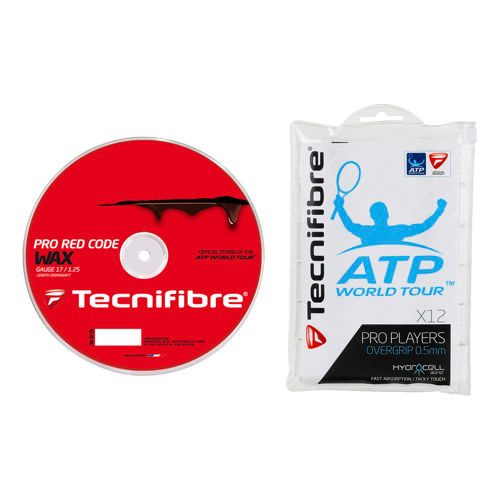 Tecnifibre Pro RedCode Wax String Reel 200m Plus Overgrip - Red