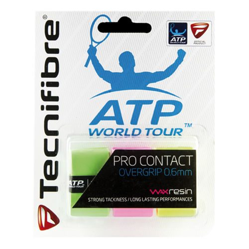Tecnifibre Pro Contact 3 Pack - Neon Pink, Neon Yellow